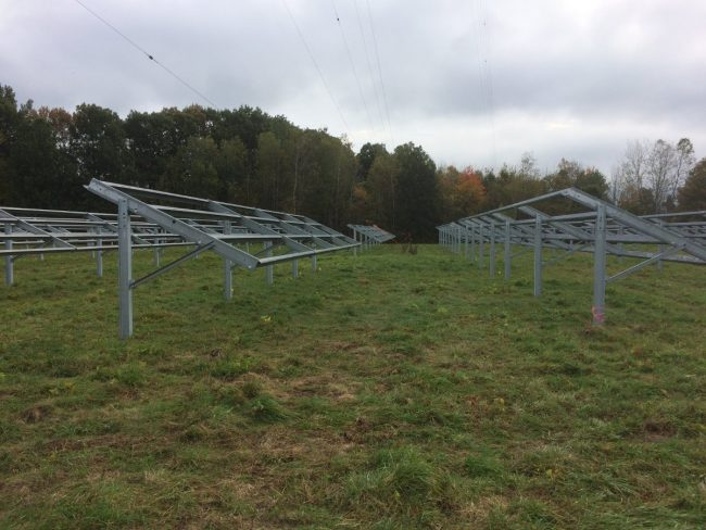 WROW-AM solar panel mounting hardware
