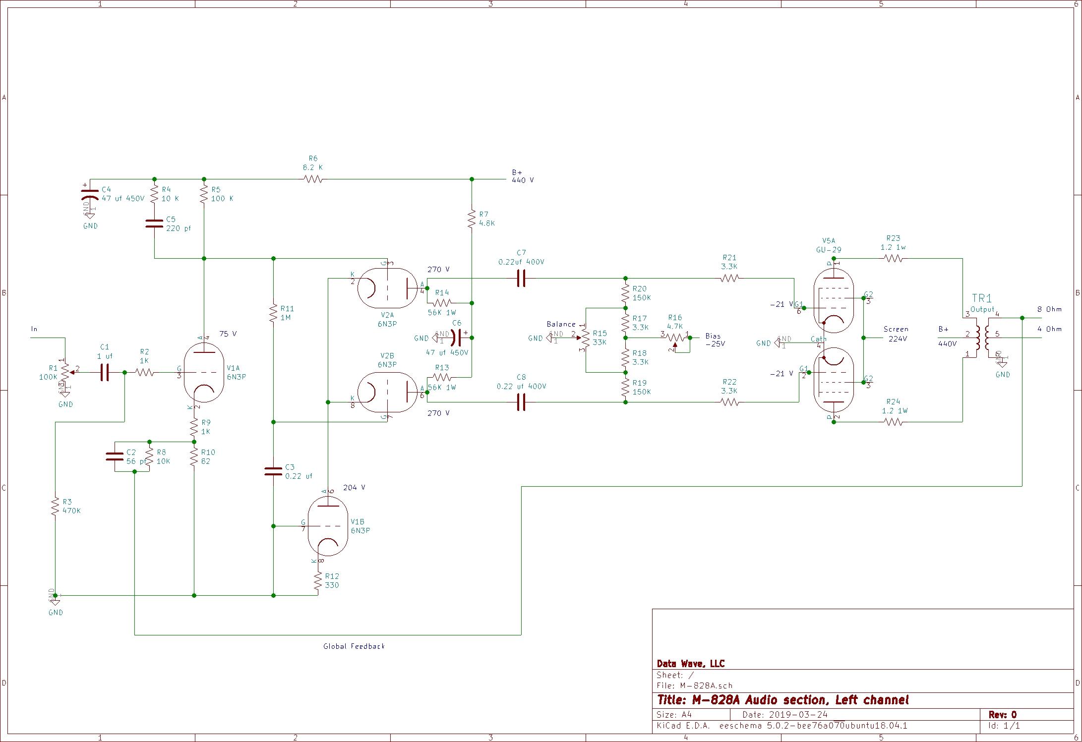 Audioromy M-828A schematic diagram