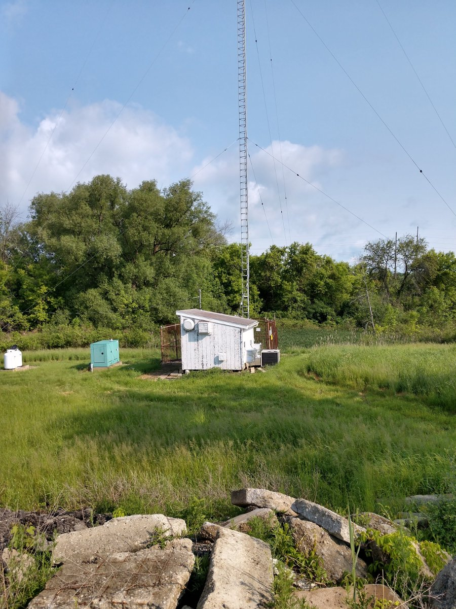 """""""The chicken coop, """" WHUC and WZCR transmitter building"""