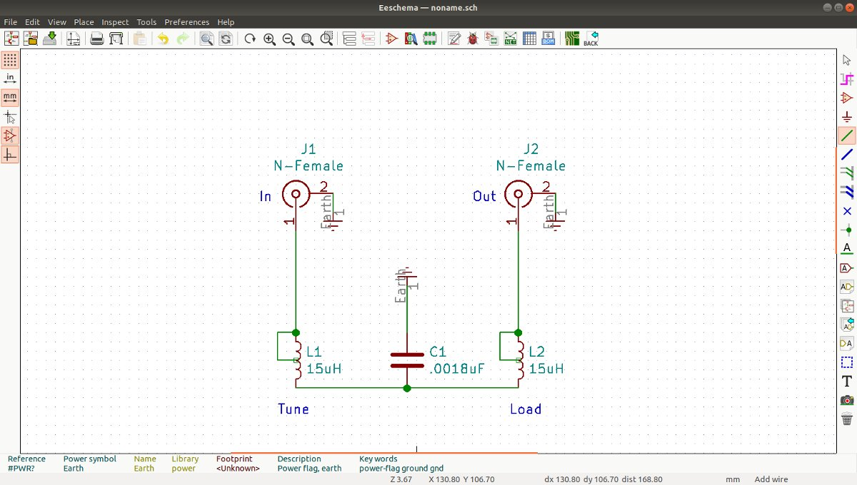 BE AM output tuning network schematic