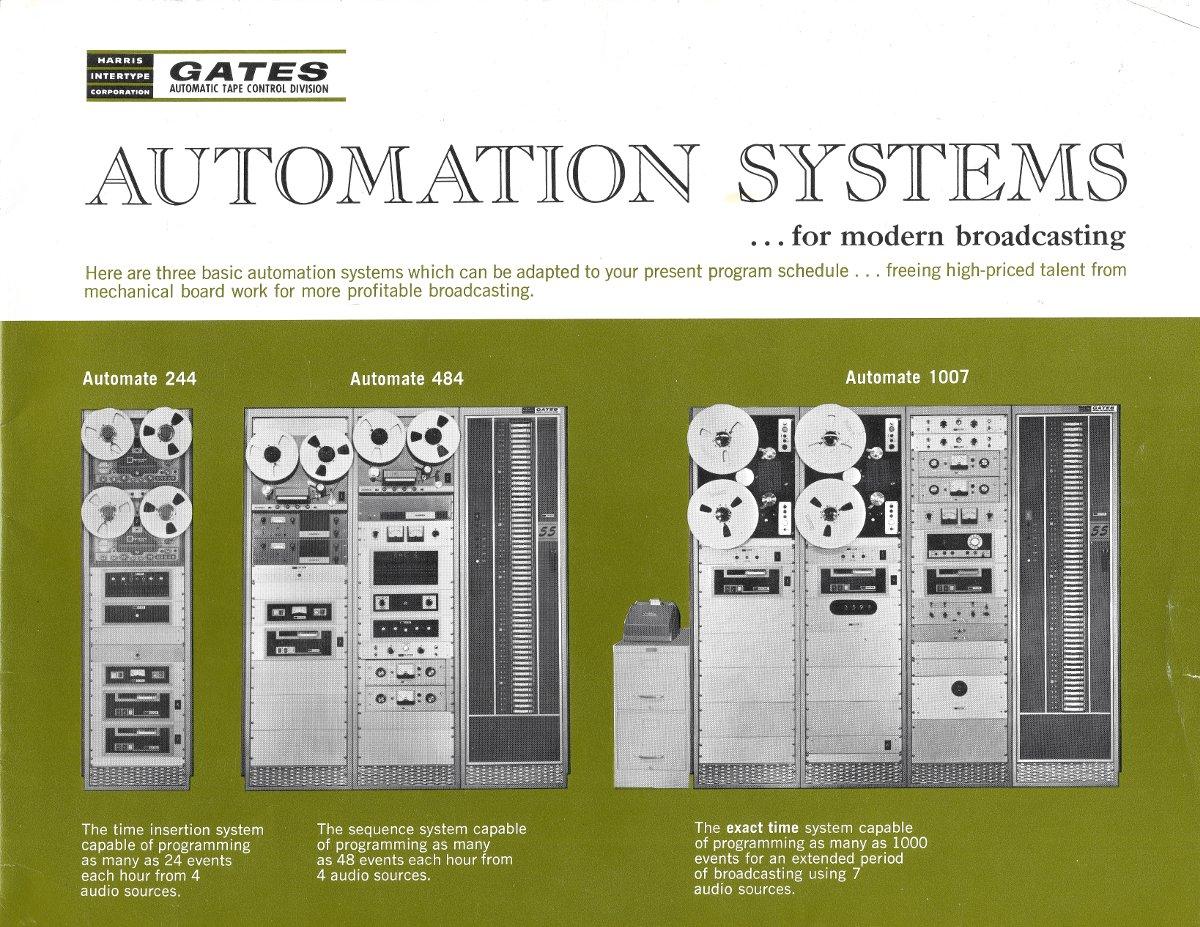 Gates automation system brochure, circa 1965
