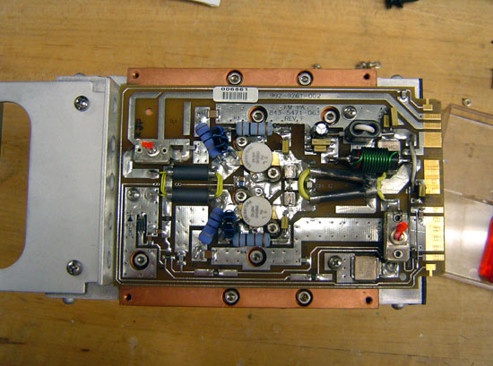 Harris FM Z series transmitter PA module with cover removed