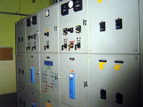 Electrical switch gear, part of power company sub-station