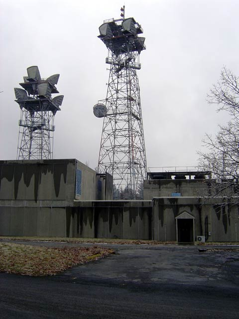 ATT long lines microwave site with towers