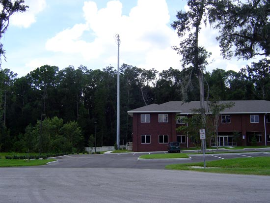 Studio building with lightning rod, Gainesville, Florida