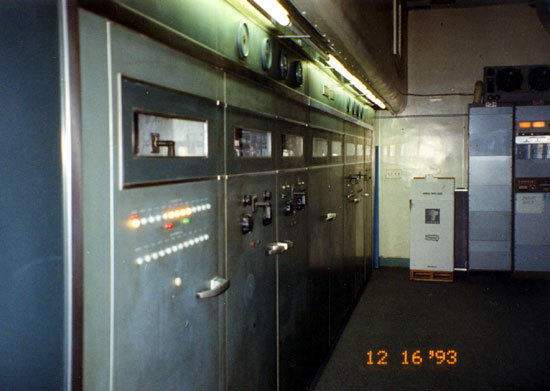 This is a long transmitter, GE BT-25-A looking from the control cabinet