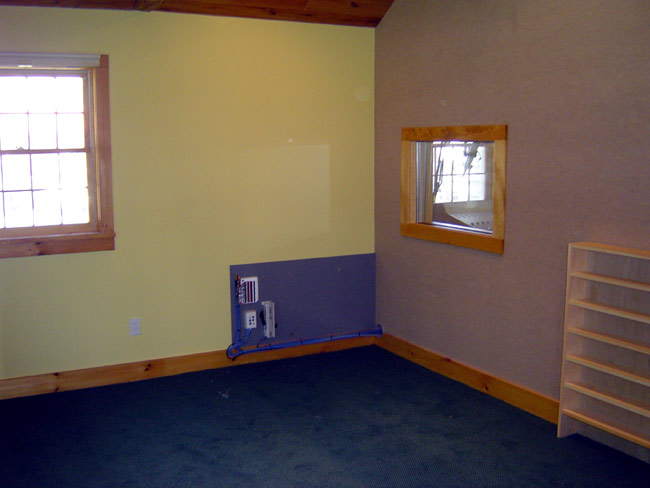 WKZE air studio before furniture is installed
