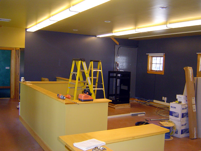 WKZE office, painted no furniture yet