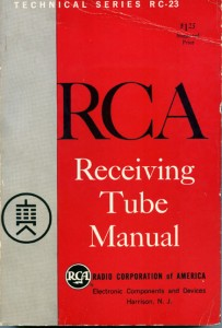 RCA receiving tube manual