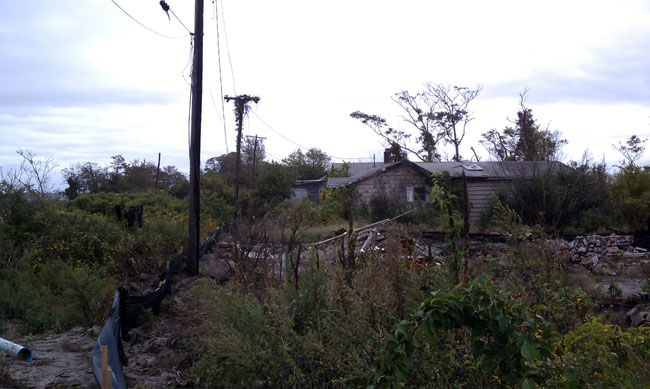 Burned out bungalows