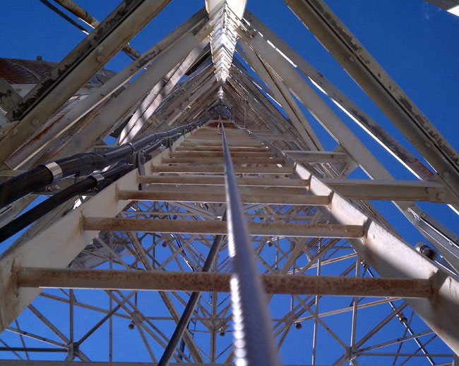 Western Electric 200 foot tower with retro fitted safety climb