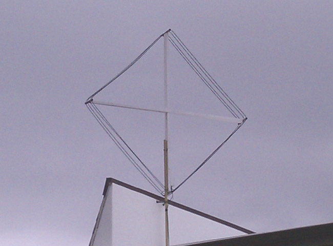 AM loop antenna installed on roof