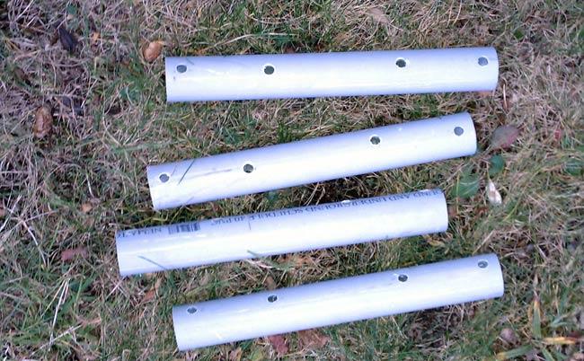 AM receive loop PVC wire spacers