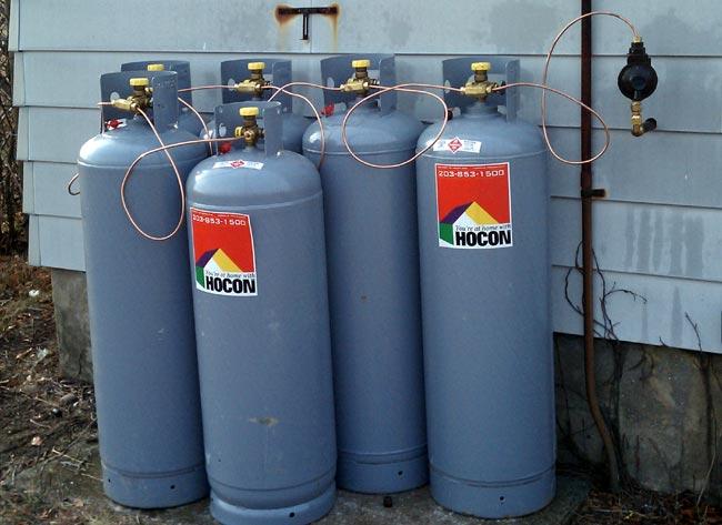 100 pound propane gas tanks