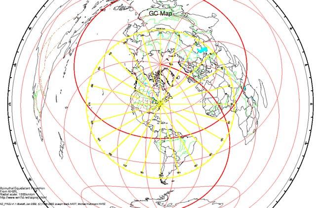 Great Circle Map Generator