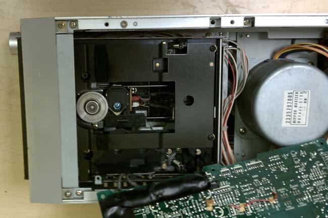 Denon DN-950 FA optics and platter