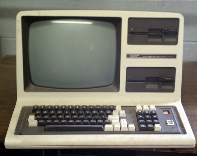 The Tandy TRS-80 Model 4D computer
