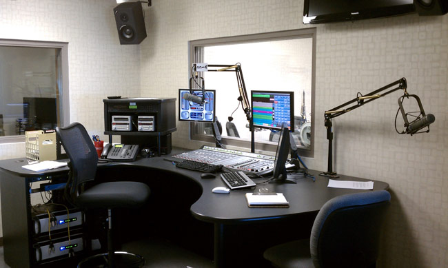 WICC new studio with Axia console