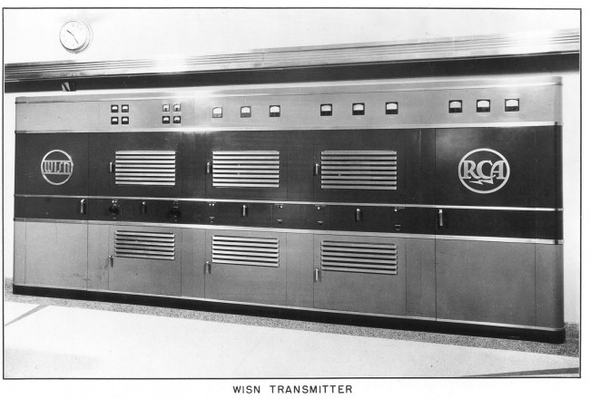 WISN RCA BT-5E transmitter, 1941