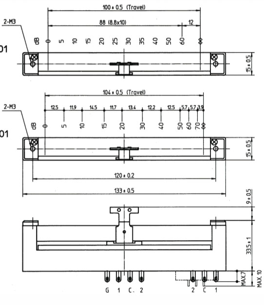 Axia Audio TKD faders, courtesy of Axia Audio / TLS Corp