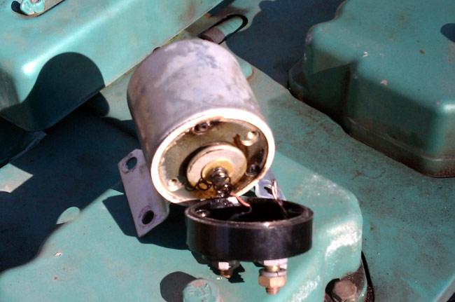 Onan 12JC4R burned out generator starter solenoid