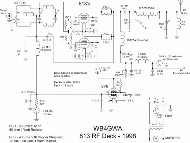 813 Tube type 250 watt transmitter final