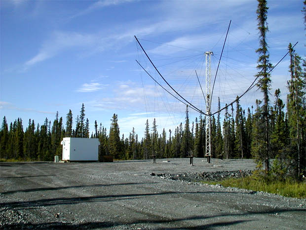 HAARP receiving antenna, Gakona, AK