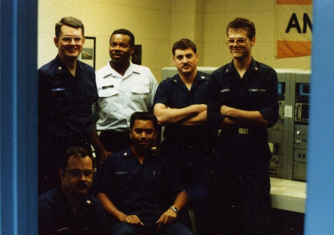 NRV watch section, standing in 500 KHz position, Circa 1990