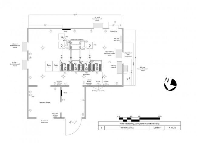 WHUD transmitter site diagram