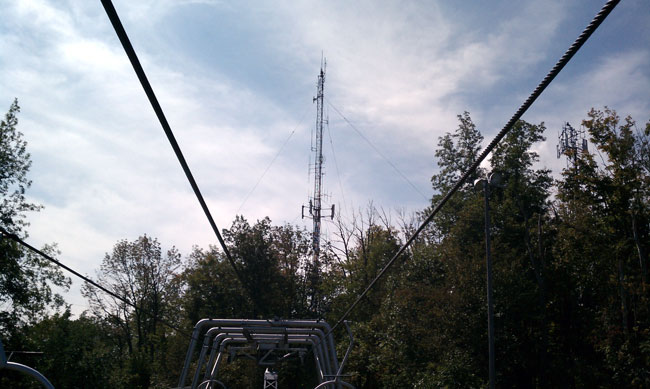 Top of the hill radio tower