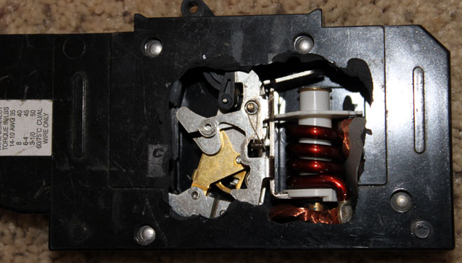 80 amp DC rated circuit breaker closed