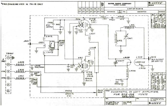 Gates BFE-50C or M5675 50 watt VHF amplifier