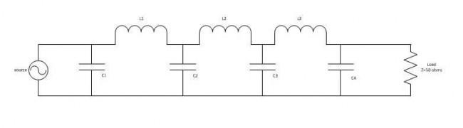 Low pass filter schematic diagram