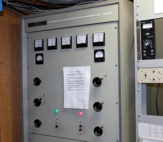 Gates BC250GY transmitter, WSBS Great Barrington, MA