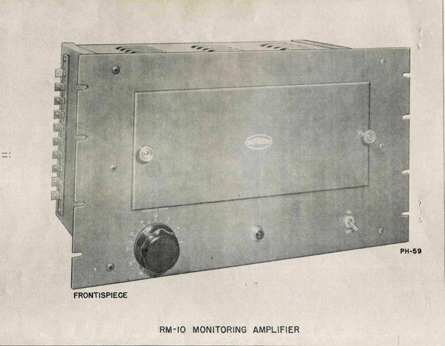 The Raytheon RM-10 Monitor Amp