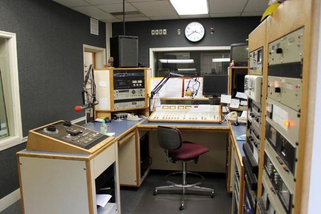 WNAW control room console