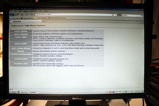 Telos NX-12 http interface