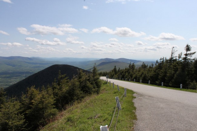 Hang Glider's view, east side pulloff, Mount Equinox, Vermont