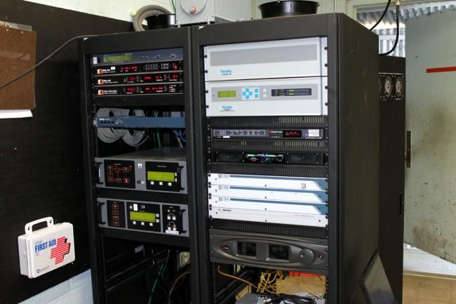 WVTQ transmitter racks and STL equipment