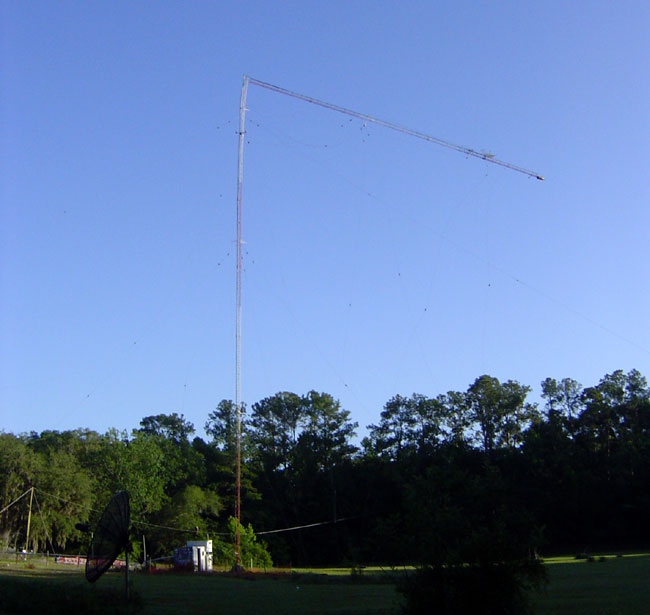 WDVH, 980 Gainesville, FL.  Top of tower coming down