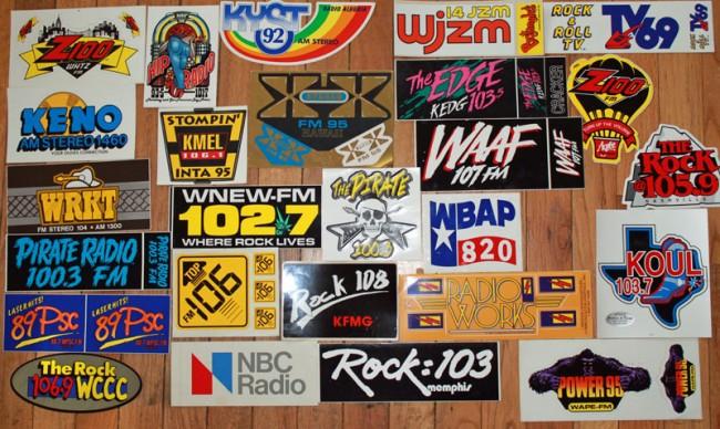 Radio Station bumper stickers