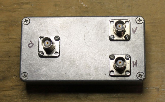 HF VHF diplexer completed.