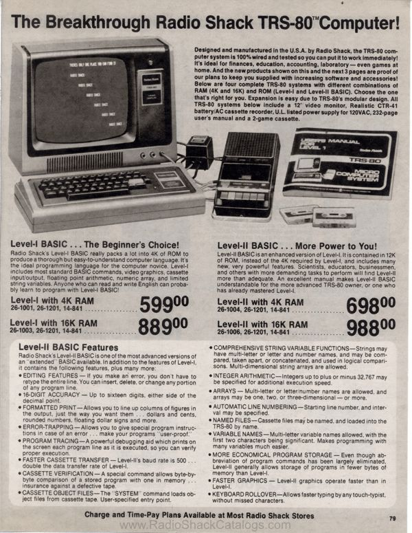 Radio Shack catalog archive