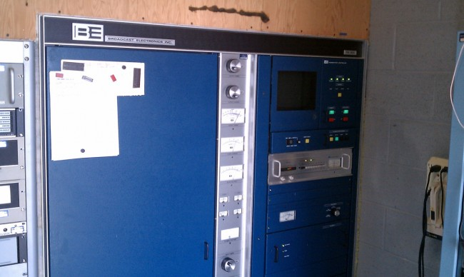 BE FM35A transmitter, on air
