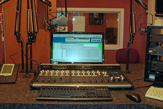 New WSBS control room console