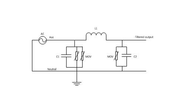 Series surge suppressor basic schematic