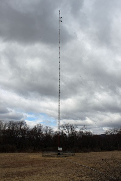 WSBS tower with W231AK antenna mounted