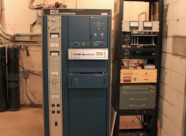 The old Broadcast Electronics Transmitter