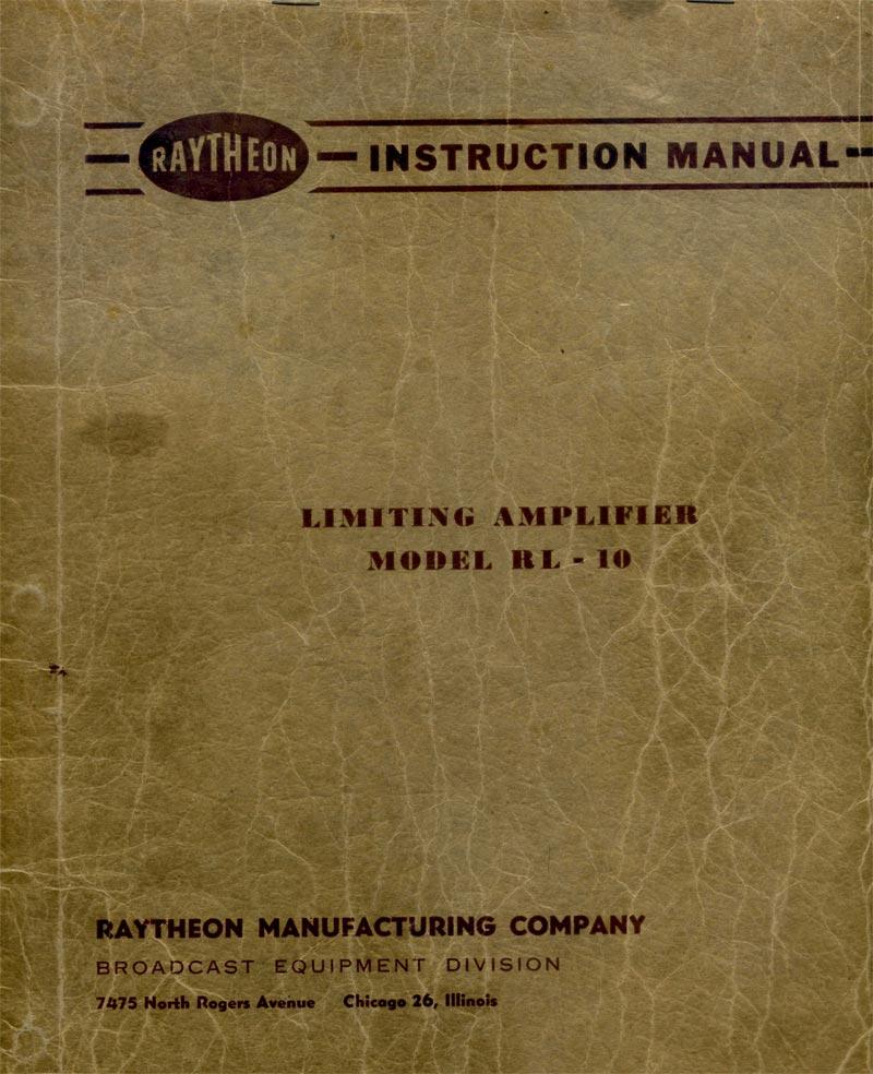 The Raytheon RL10 Limiting Amplifier