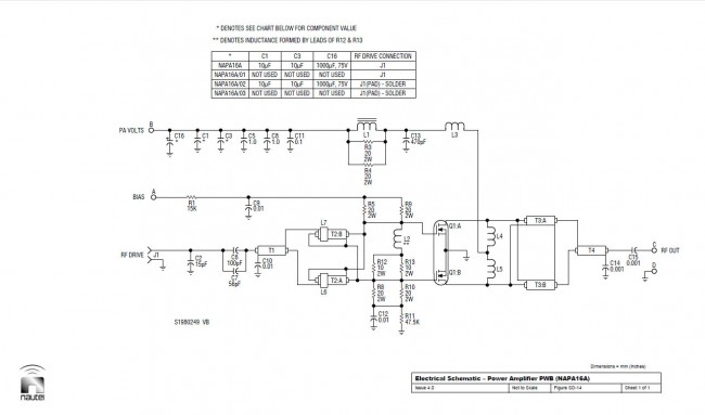 Nautel NAPA16-A schematic